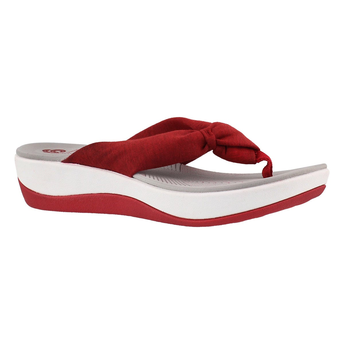 Women's ARLA GILISON red thong wedge sandal