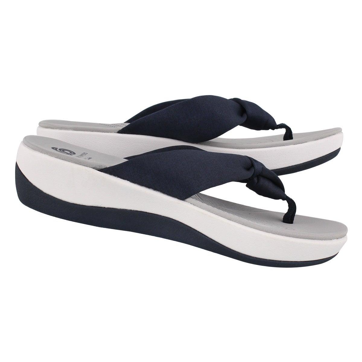 Lds Arla Glison blue thong wedge sandal