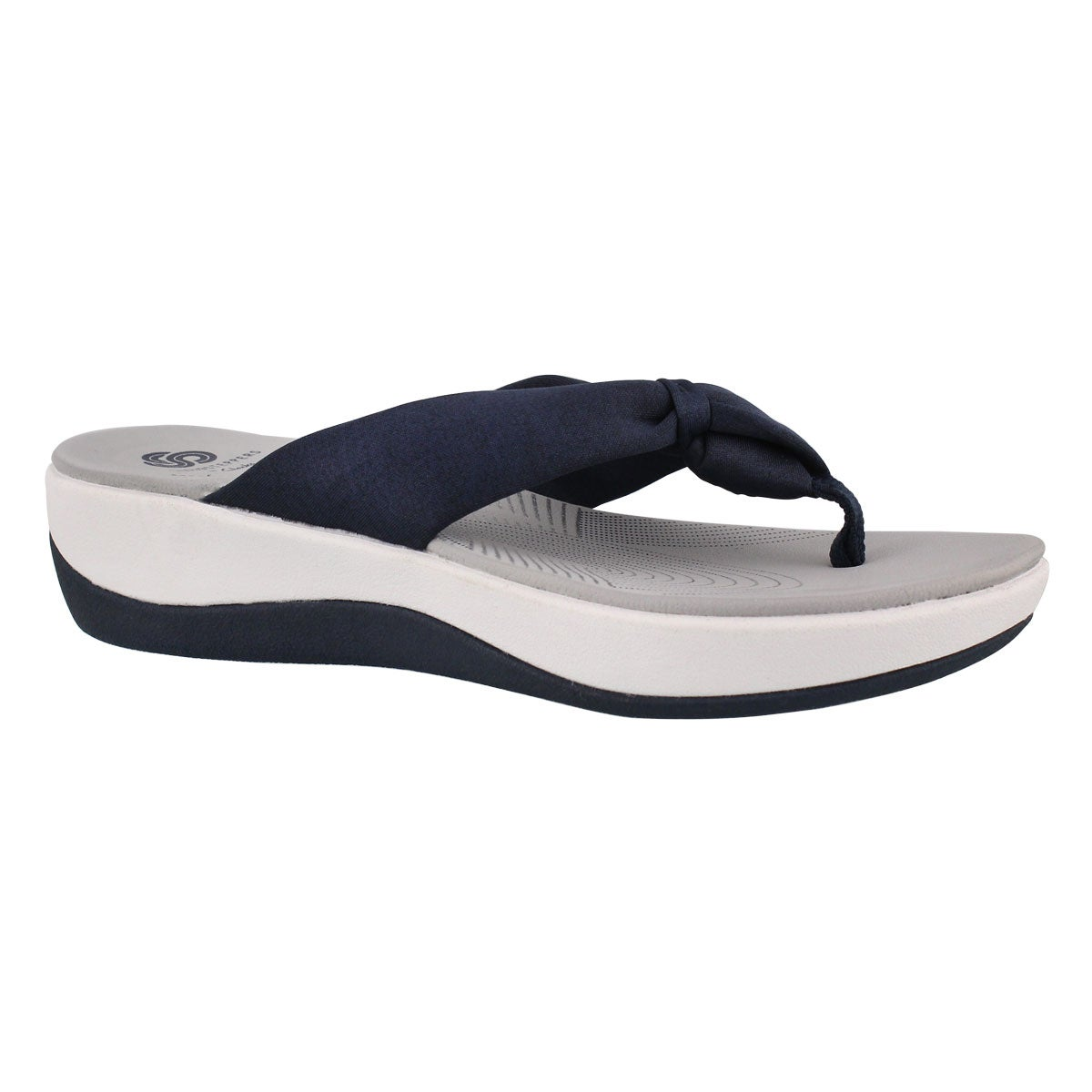 Lds Arla Glison blue thong wedge sandal