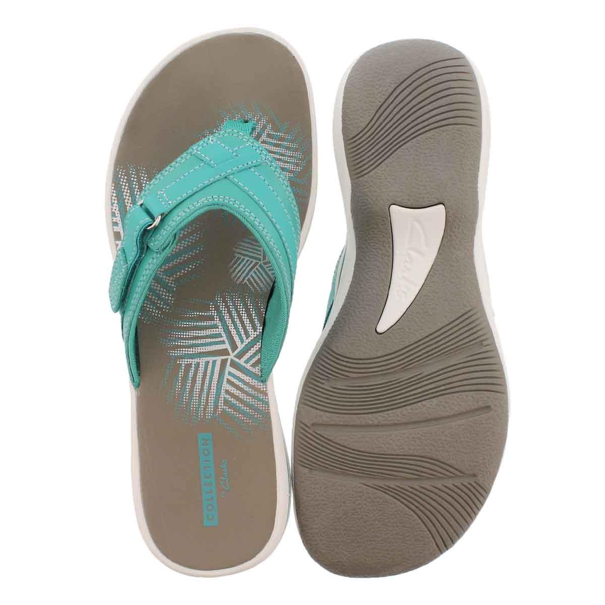 Lds Breeze Sea turquoise thong sandal