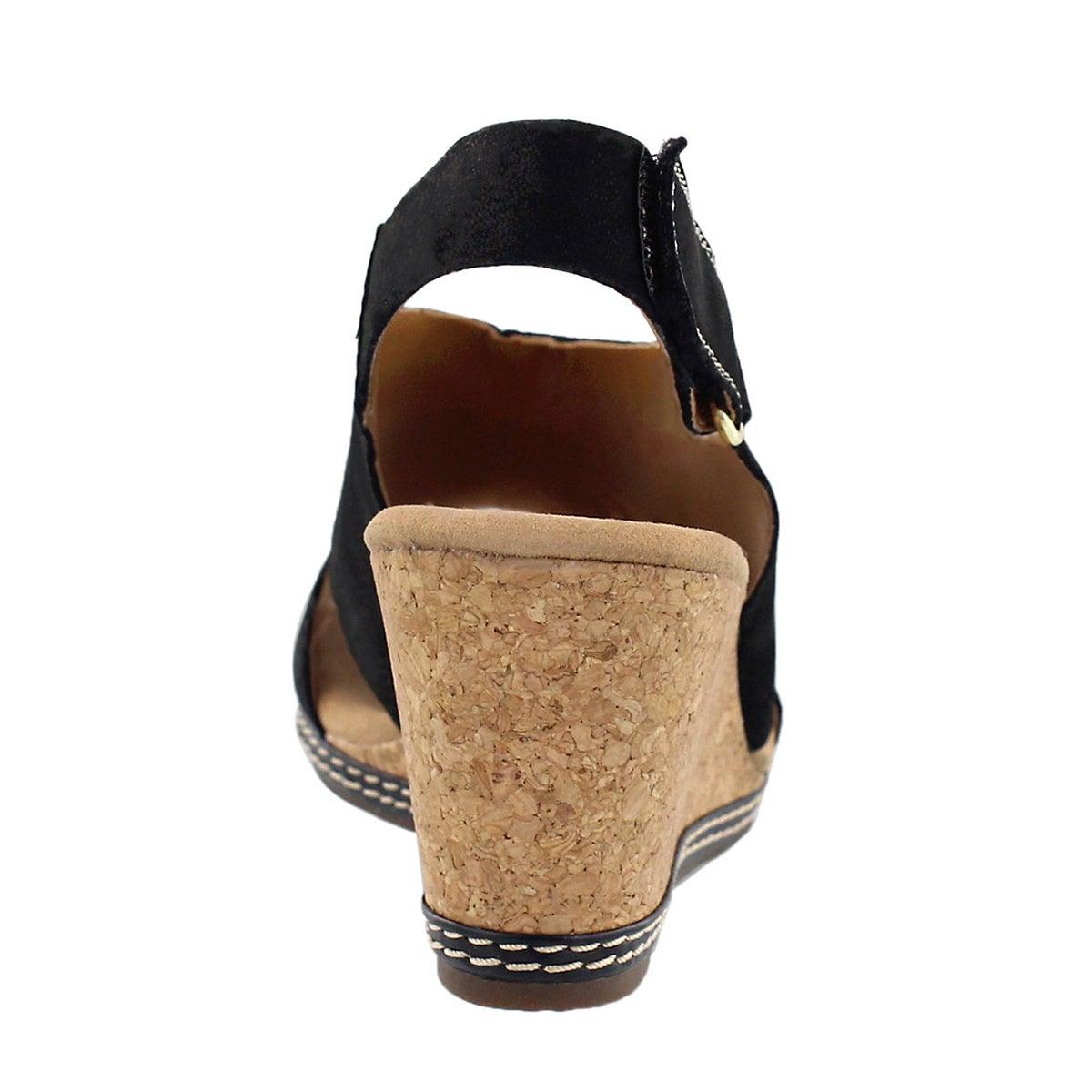 Lds Helio Float black wedge sandal