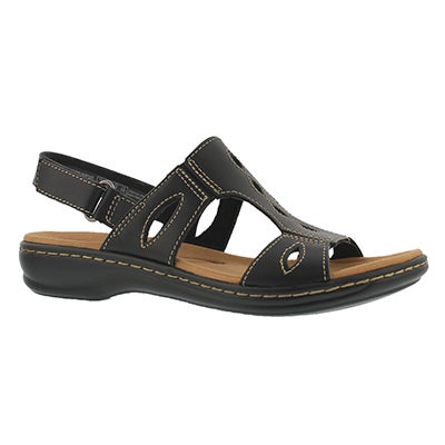 Lds Leisa Lakelyn blk casual slide sndl
