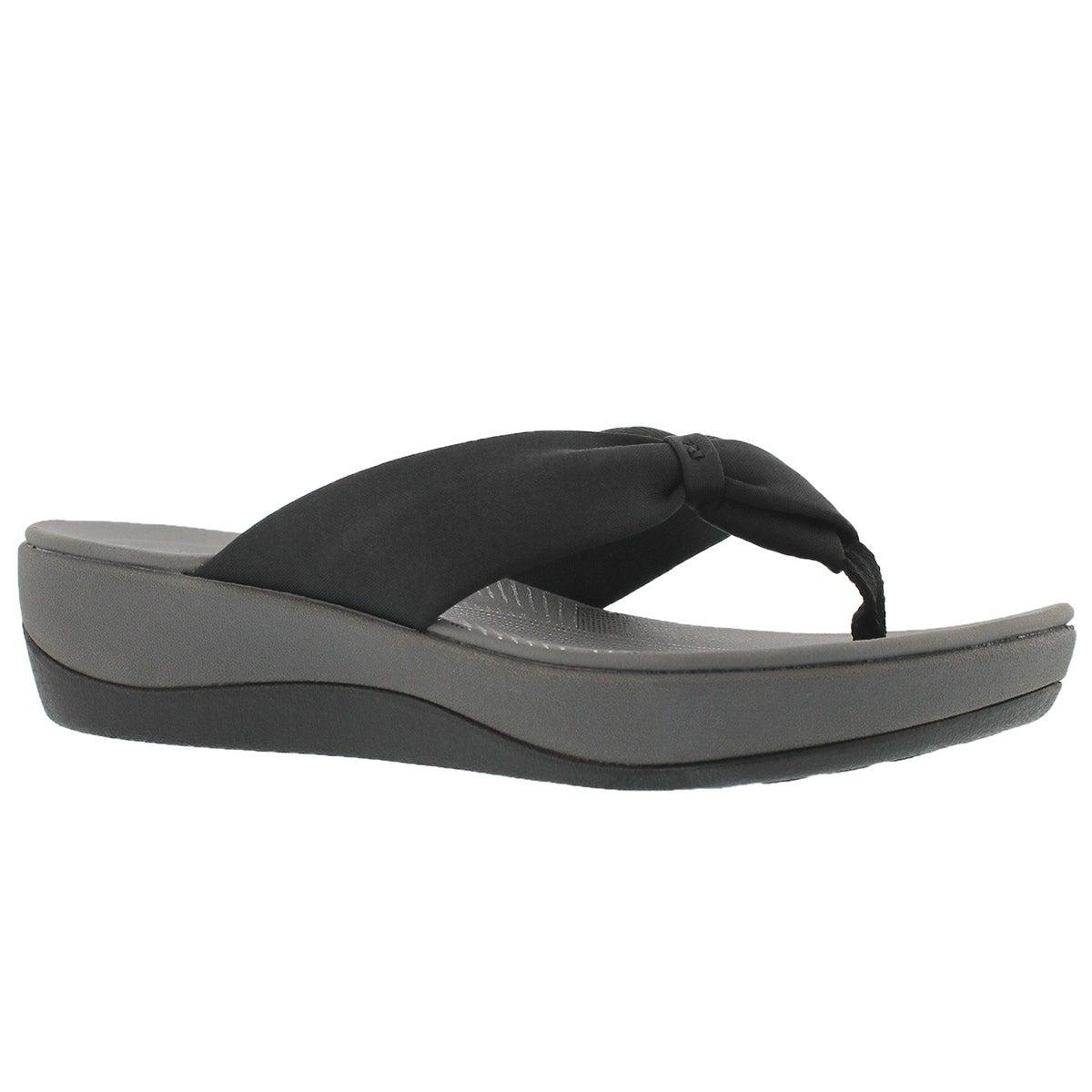 Women's ARLA GLISON black thong wedge sandals