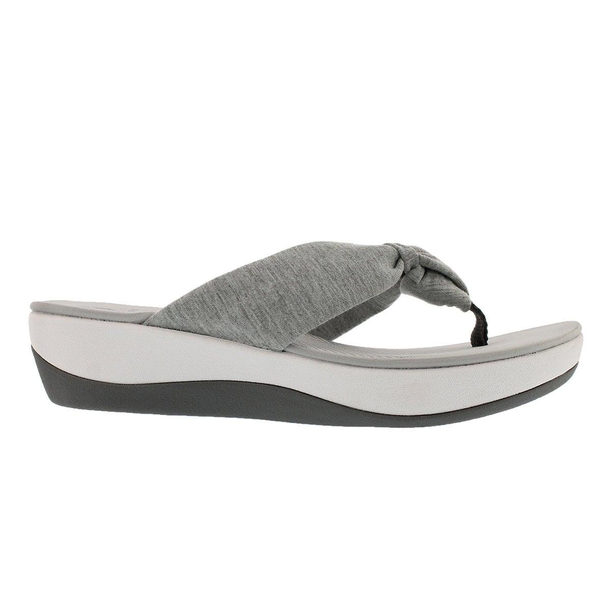 Lds Arla Glison grey thong wedge sandal