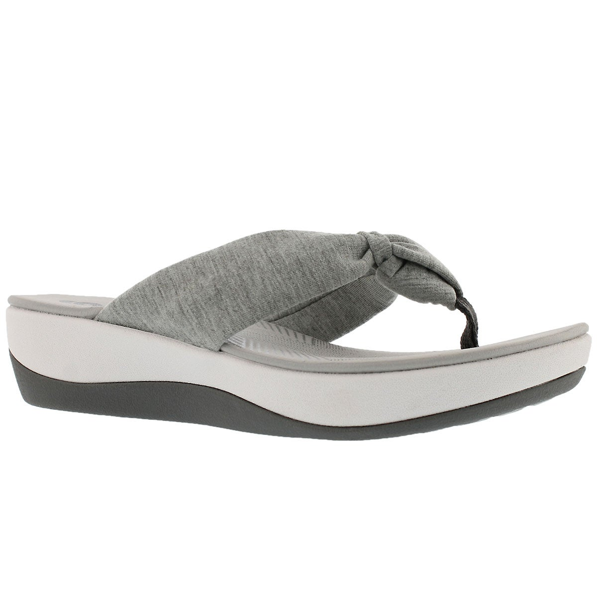 Women's ARLA GLISON grey thong wedge sandals