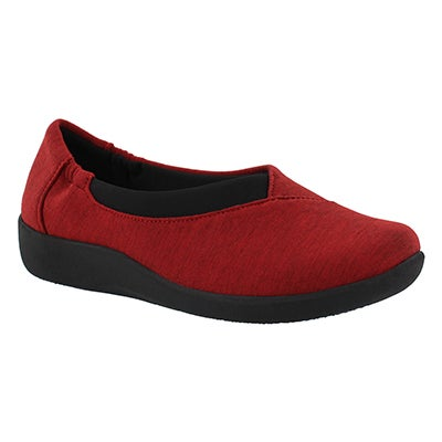 Clarks Women's SILLIAN JETAY red casual slip ons
