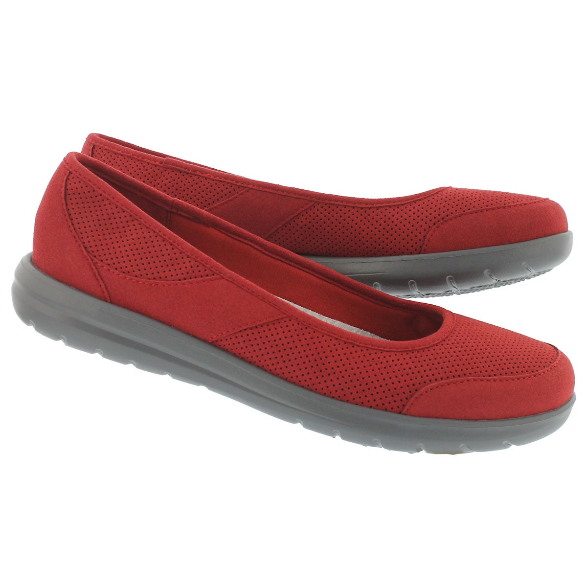 Lds Jocolin Myla red perf casual flat