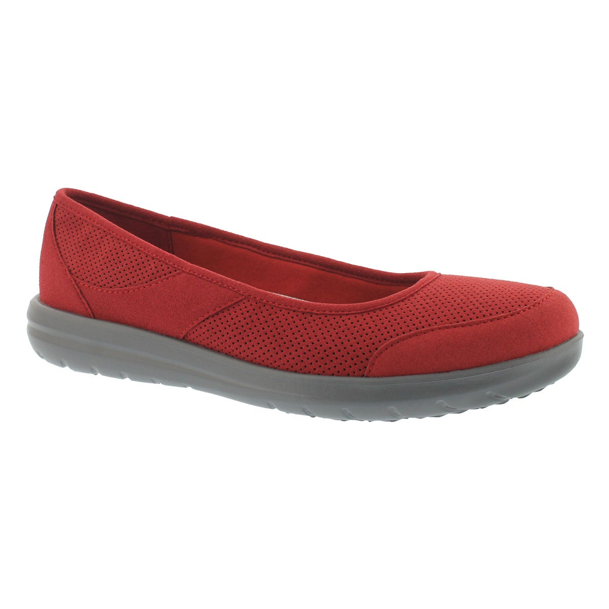 Women's JOCOLIN MYLA red perforated casual flats