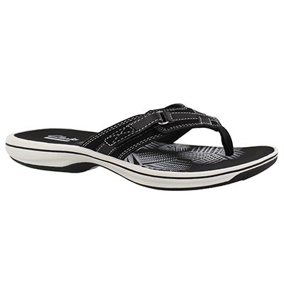 Lds Breeze Sea black thong sandal