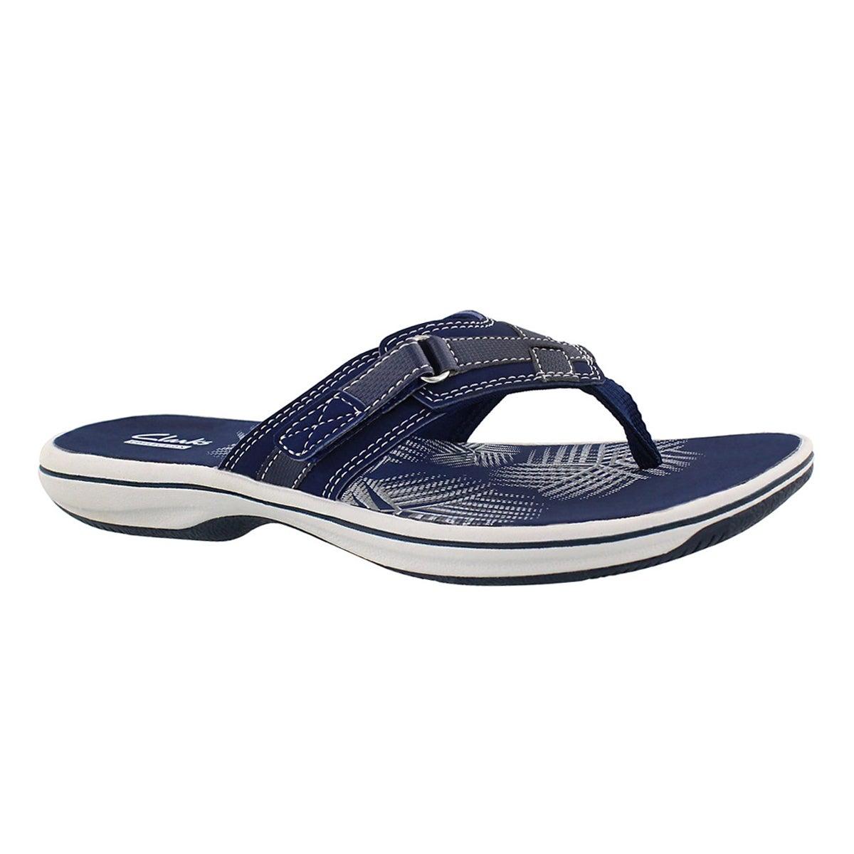 Women's BREEZE SEA navy thong sandals