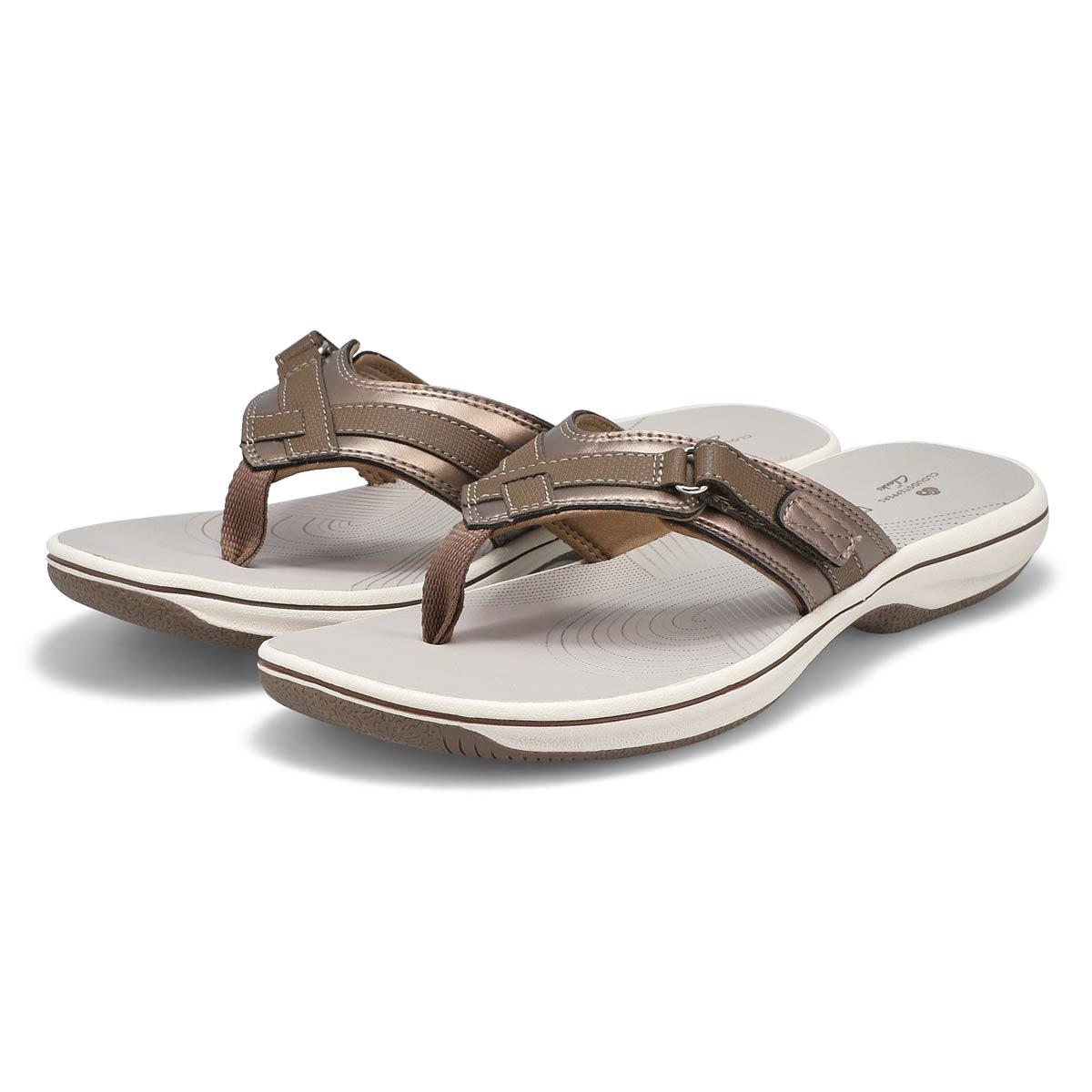 Lds Breeze Sea pewter thong sandal
