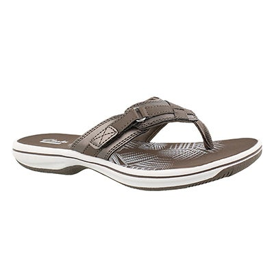 Lds Breeze Sea pewter thong sandal
