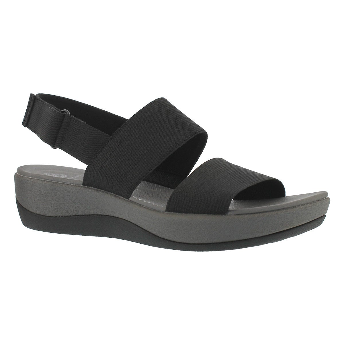 Women's ARLA JACORY black wedge sandals