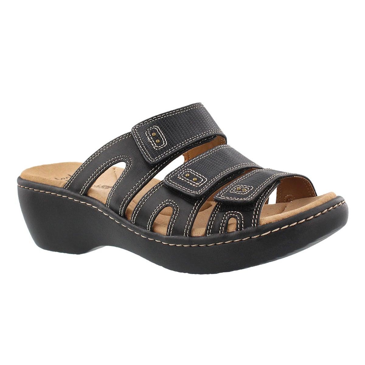 Women's DELANA DAMIR black casual slide sandals