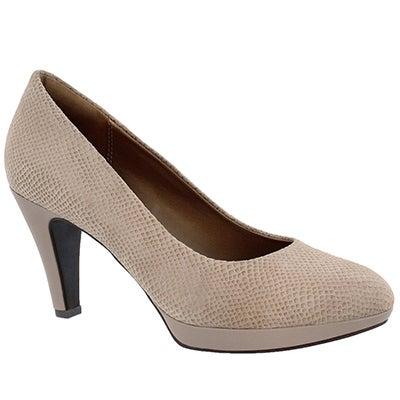 Clarks Women's BRIER DOLLY sand snake dress heels