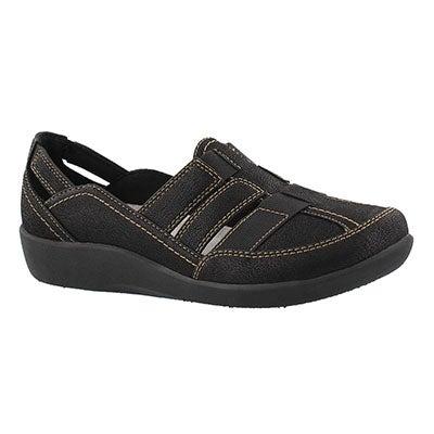 Lds Sillian Stork black casual loafer