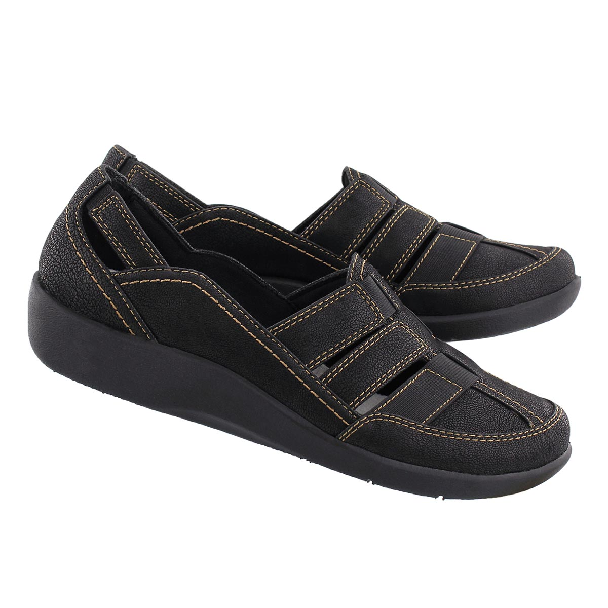 Lds Sillian Stork black casual loafer
