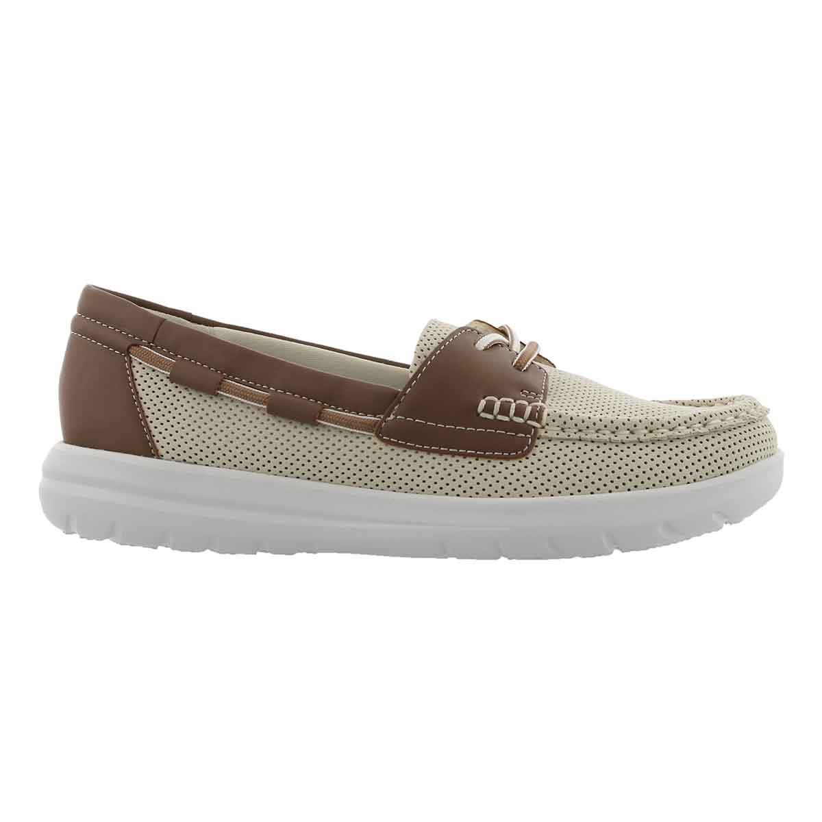 Lds Jocolin Vista off white boat shoe