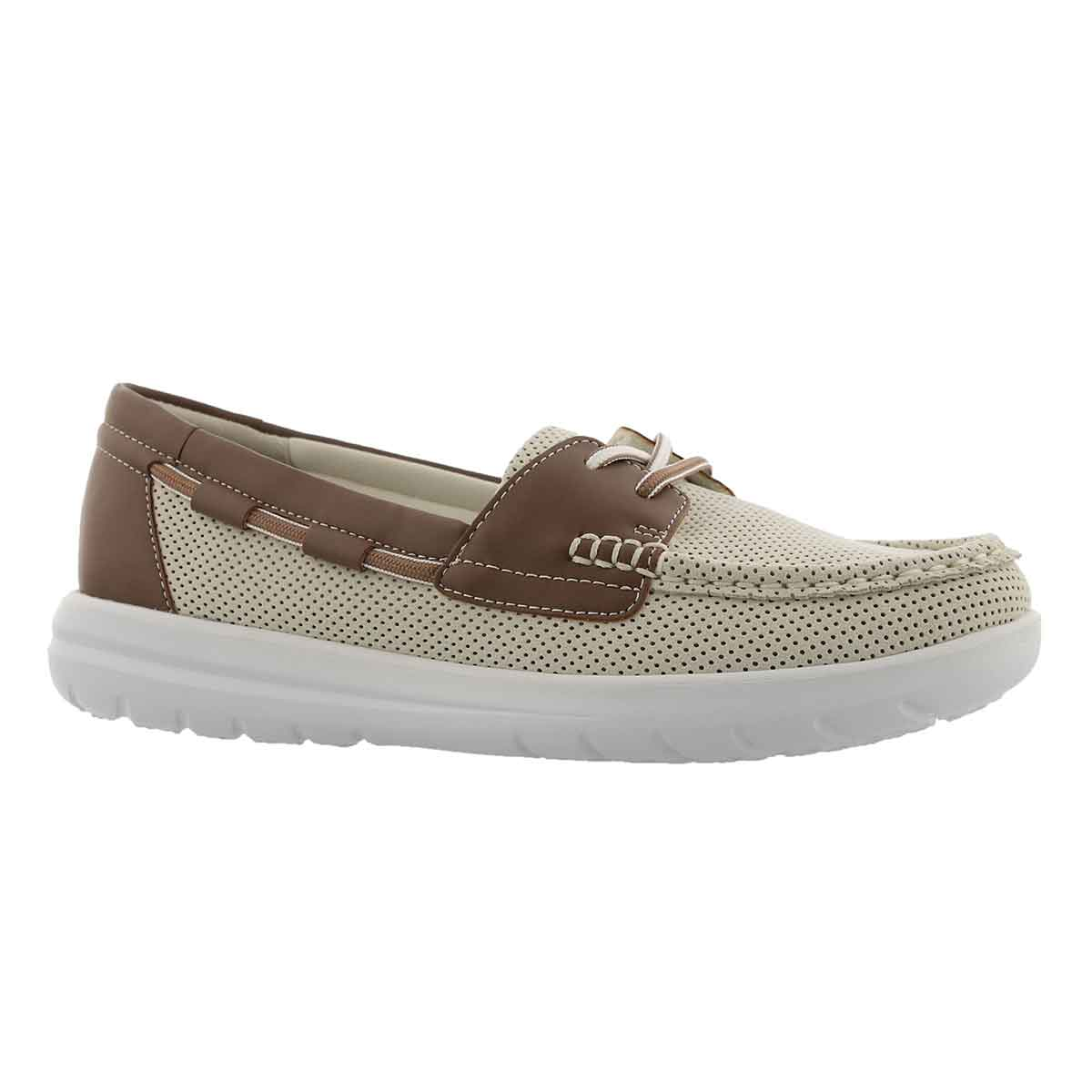 Women's JOCOLIN VISTA off white boat shoes