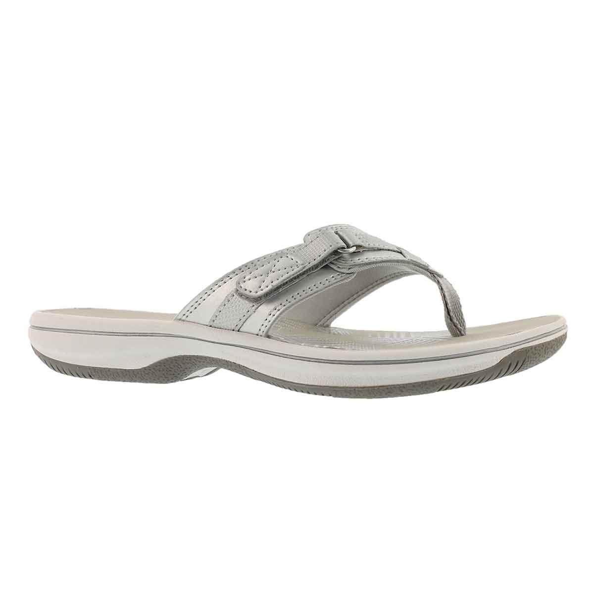 Women's BREEZE SEA silver thong sandals
