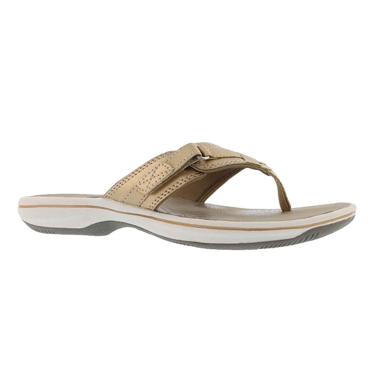 Women's BREEZE SEA gold thong sandals