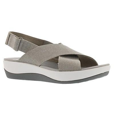 Lds Arla Kaydin sand/wht wedge sandal