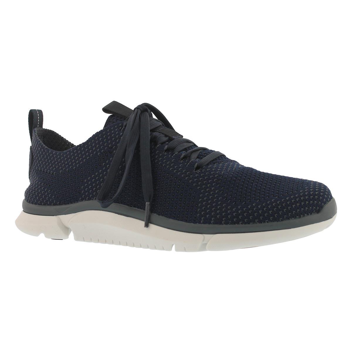 Men's TRIKEN RUN navy lace up sneaker