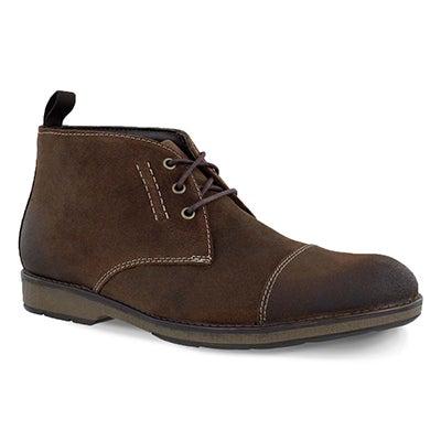 Mns Hinman Mid dk tan chukka boot