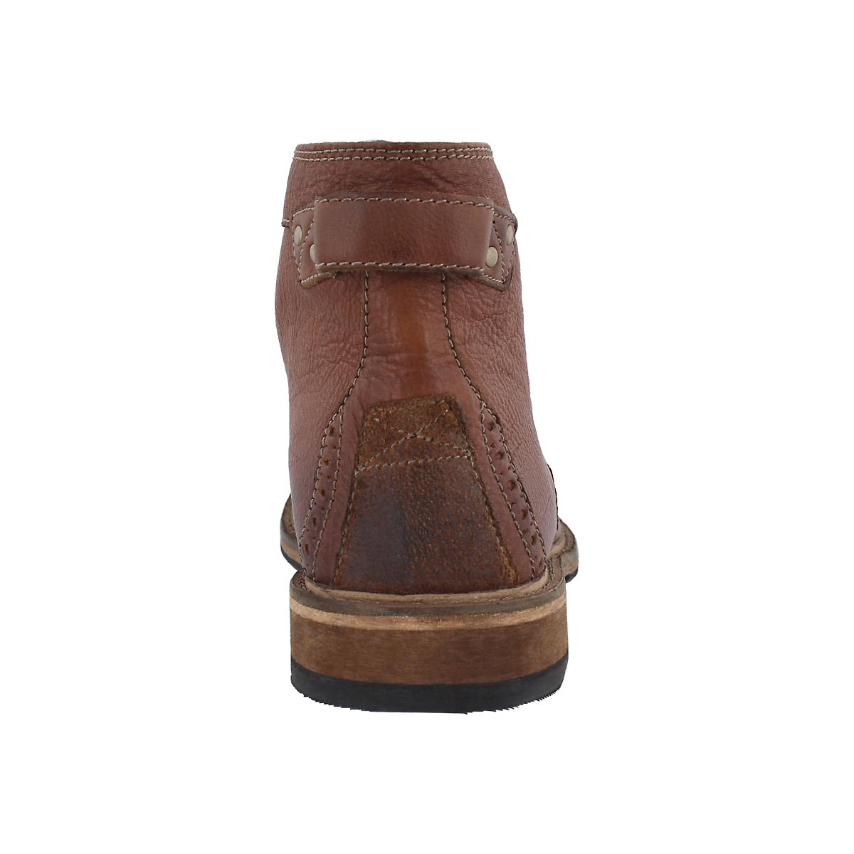 Mns Clarkdale Bud tan laceup ankle boot