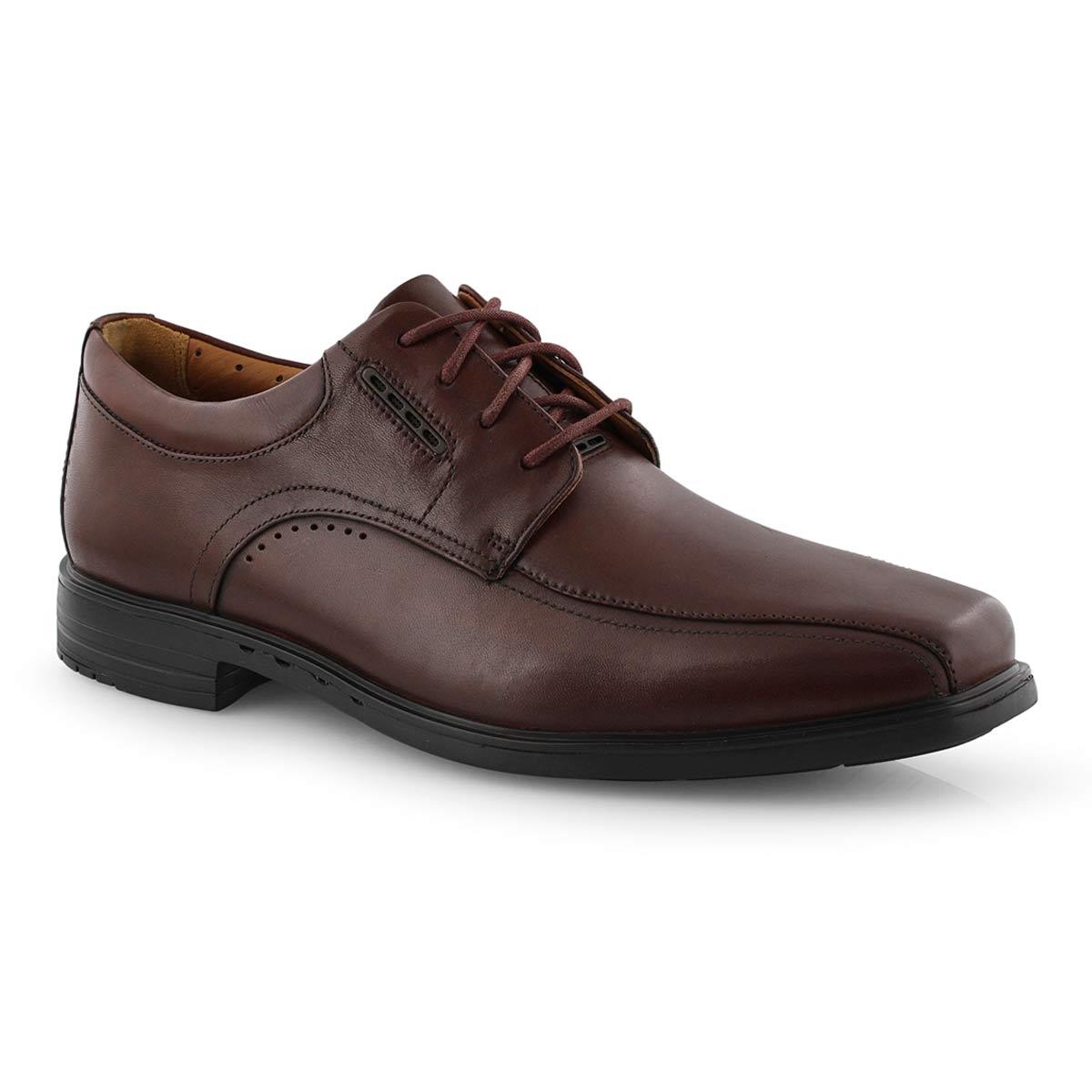 Mns UnKenneth Way brown dress shoe-wide