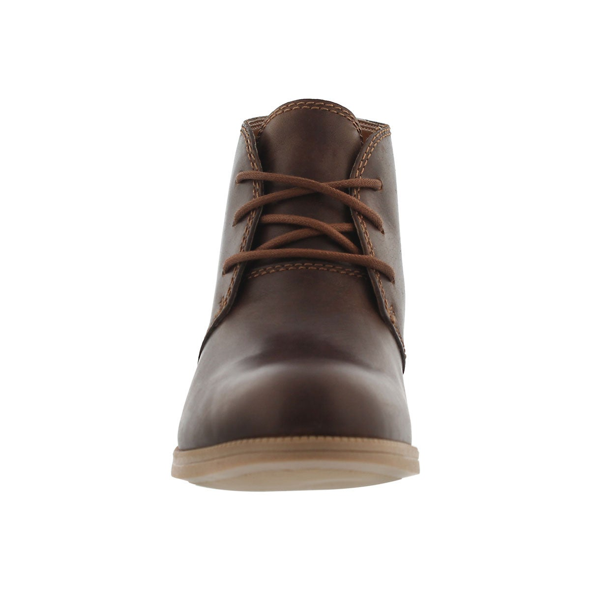 Lds Maypearl Flora dk tan lace up bootie