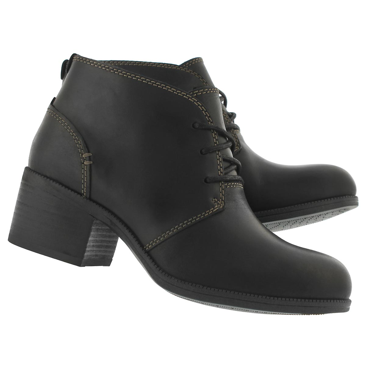 Lds Maypearl Flora blk lace up bootie