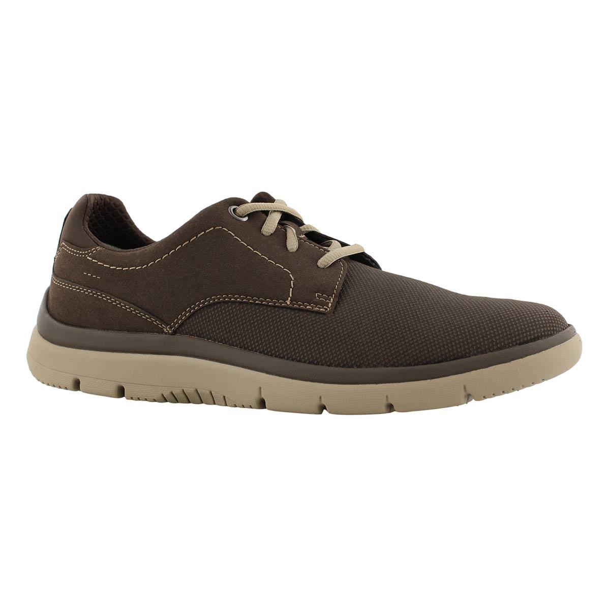 Mns Tunsil Plain brn lace up casual shoe