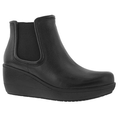Lds Wynnmere Mara blk wedge ankle boot