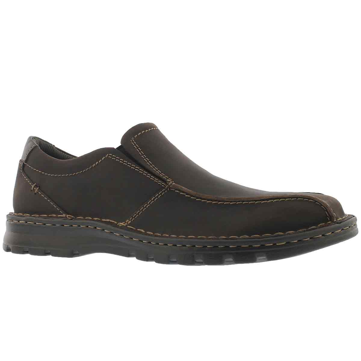 Men's VANEK STEP dark brown casual slip ons