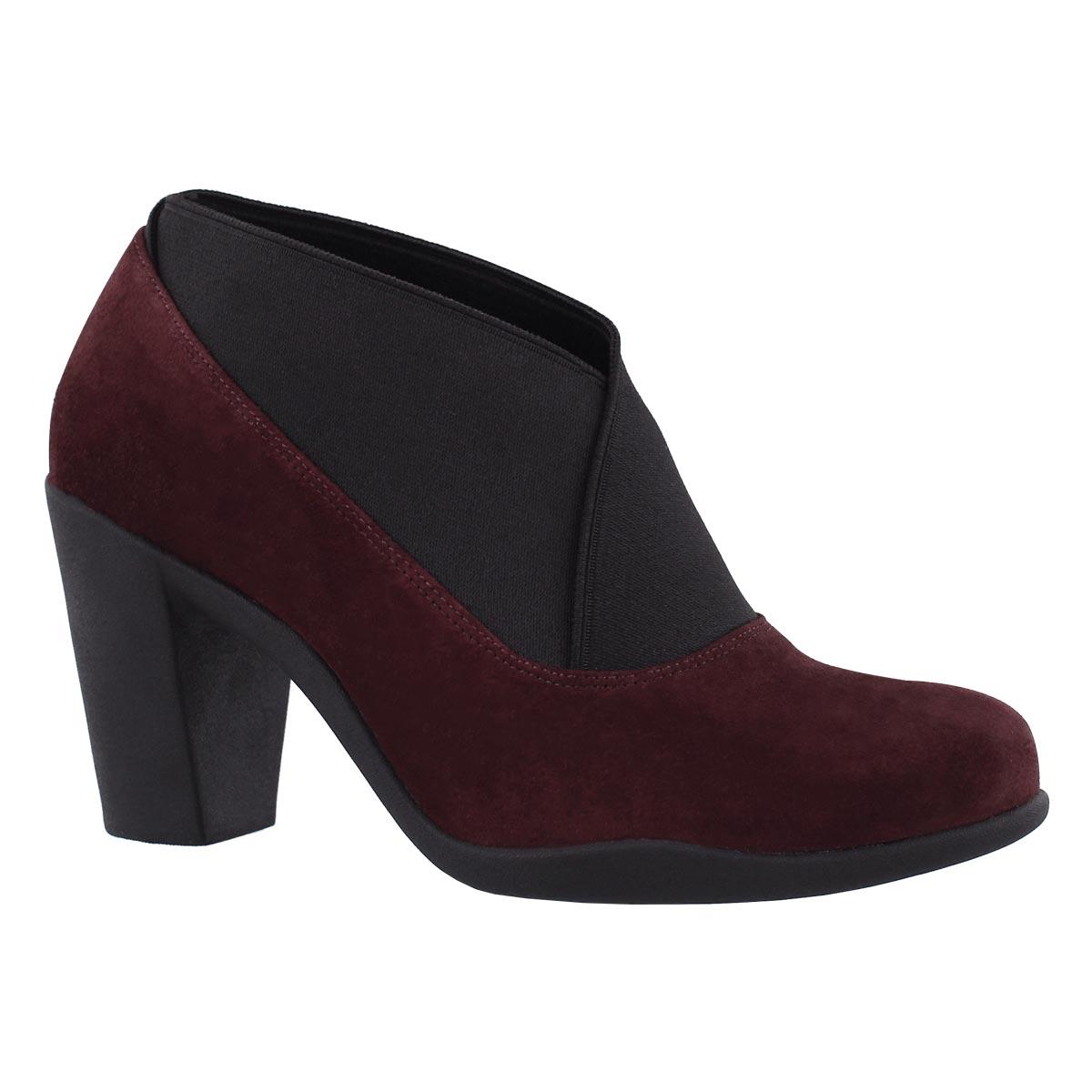 Women's ADYA LUNA burgundy dress heels