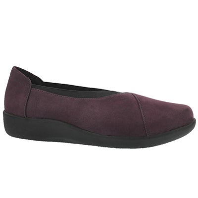 Lds SillianHolly aubergine casual loafer