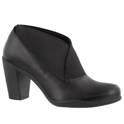 Lds Adya Luna blk lthr dress heel