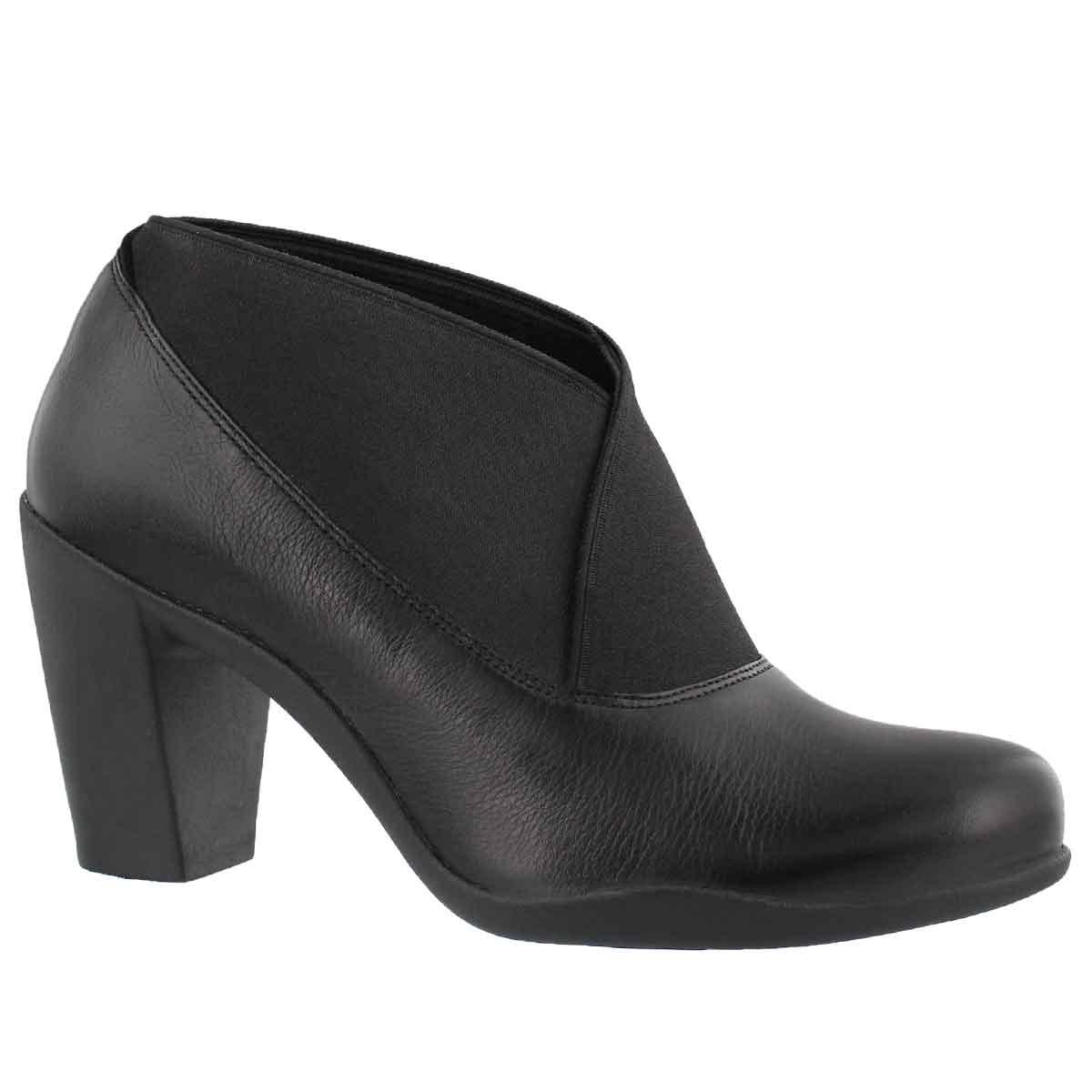Women's ADYA LUNA black leather dress heels