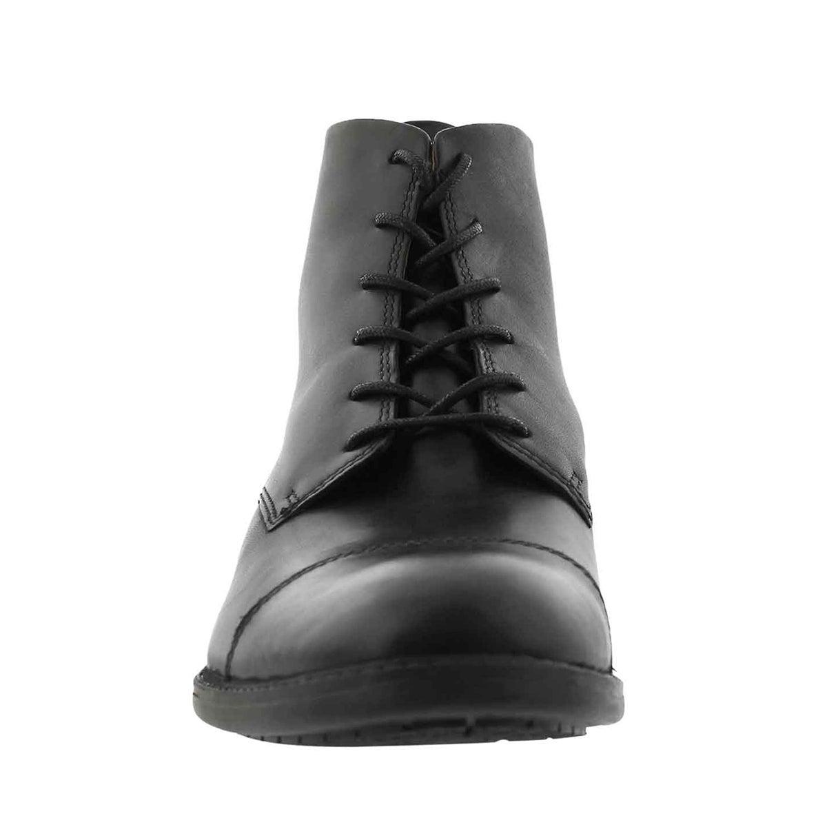Mns Truxton High blk lace up dress boot