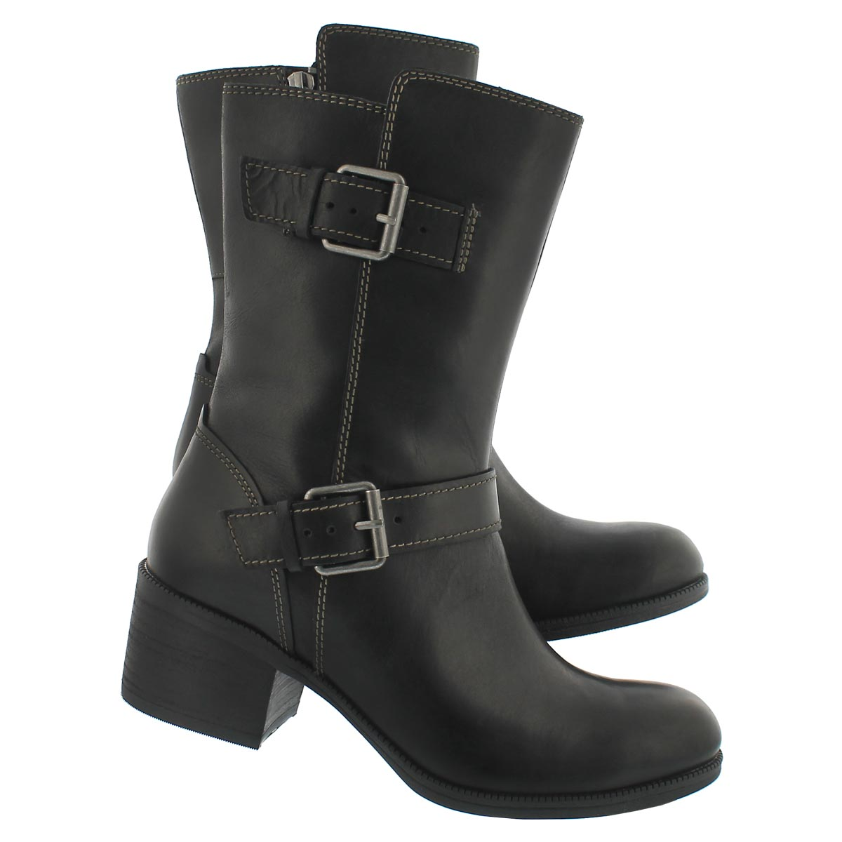 Lds Maypearl Oasis blk mid-calf boot