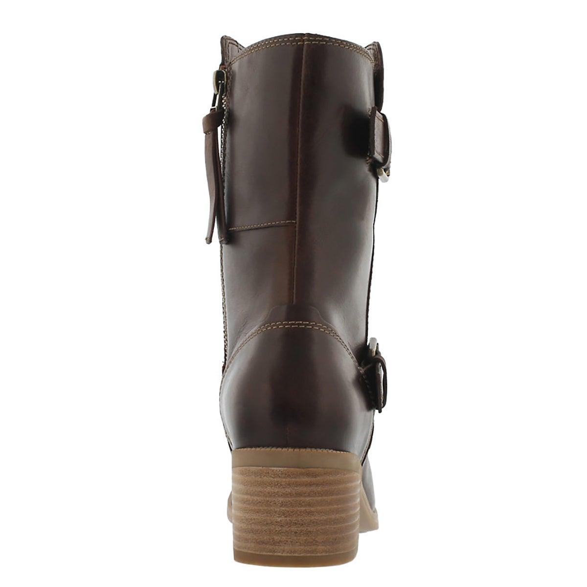 Lds Maypearl Oasis dk tan mid-calf boot