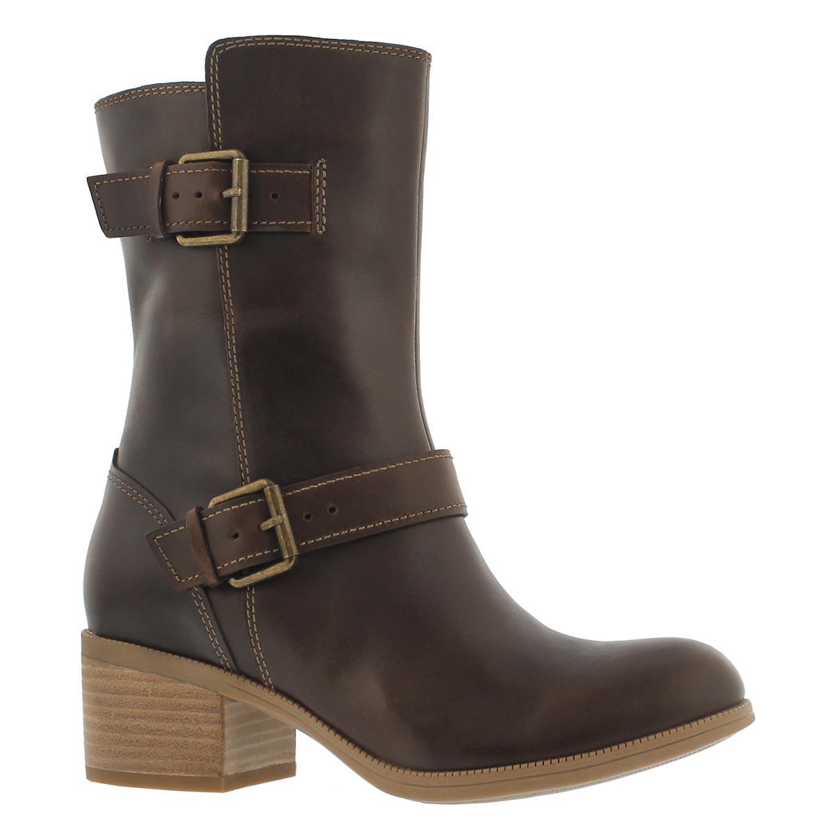 Women's MAYPEARL OASIS dark tan mid-calf boots
