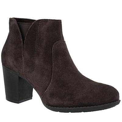 Lds Enfield Senya dk brown dress bootie