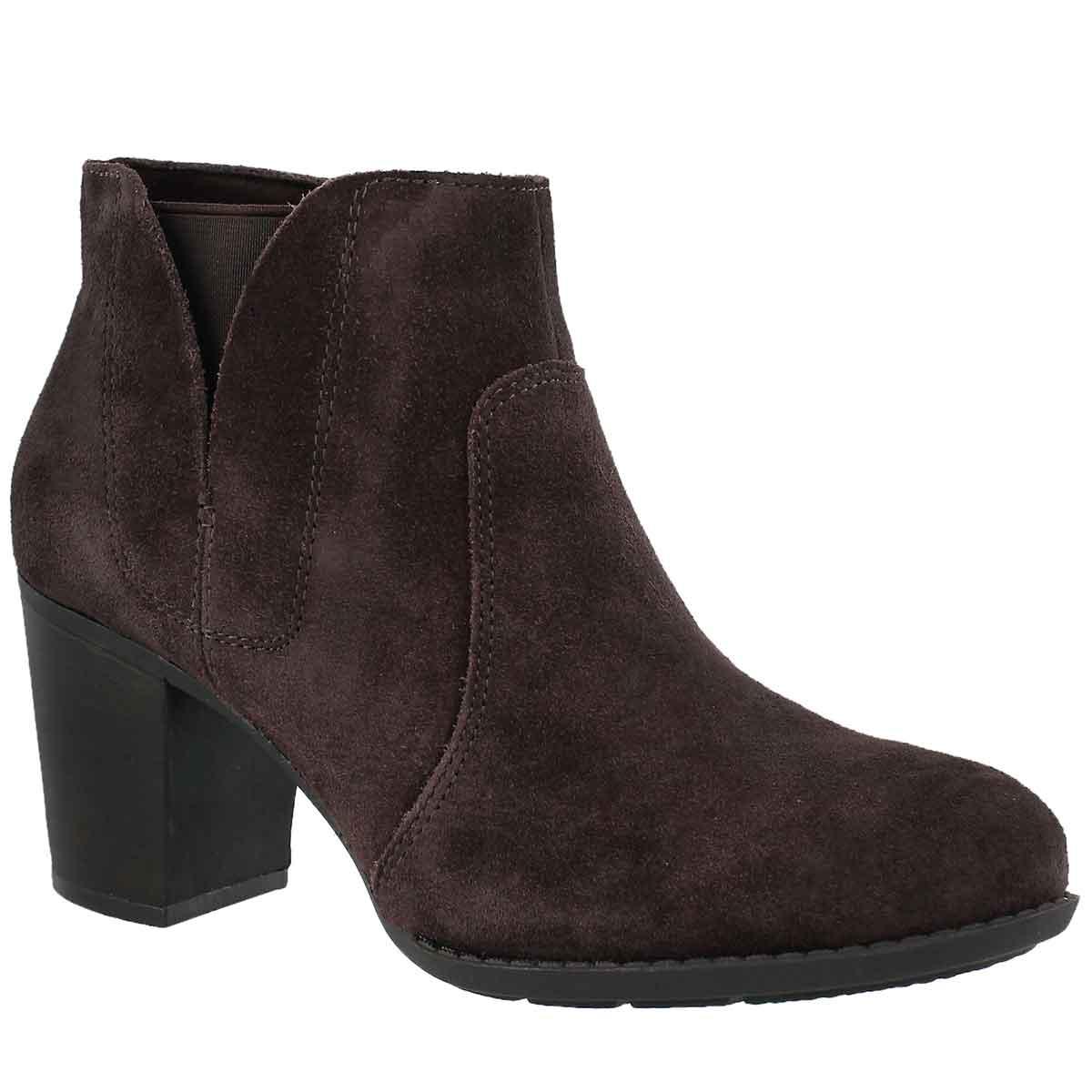 Women's ENFIELD SENYA dark brown dress booties