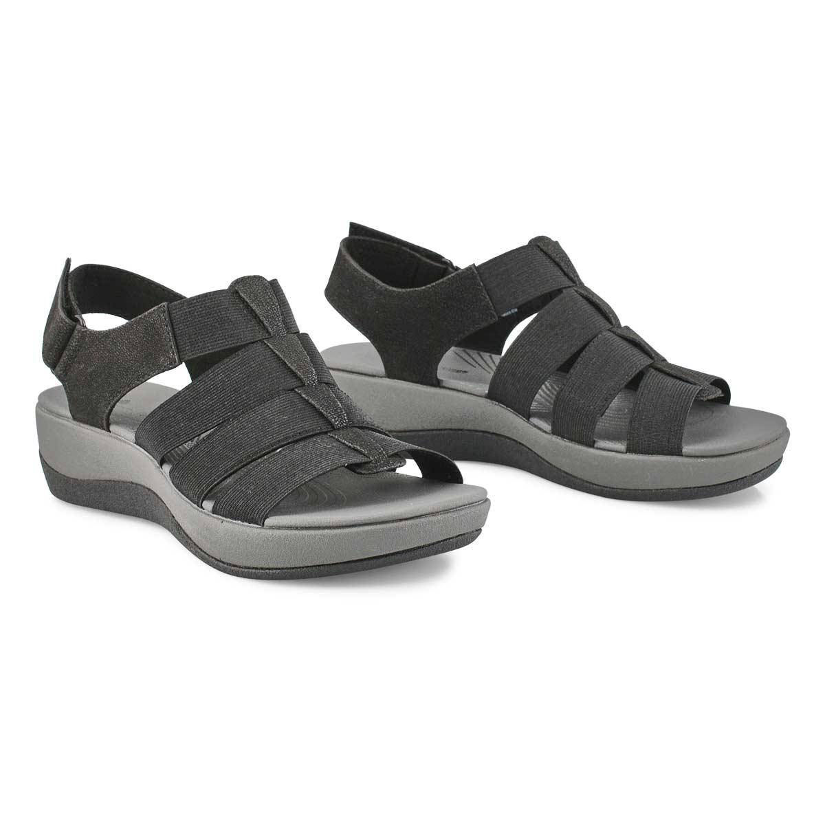 Sandale compensée ArlaShaylie, noir, fem