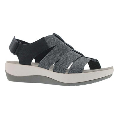 Lds Arla Shaylie nvy casual wedge sandal