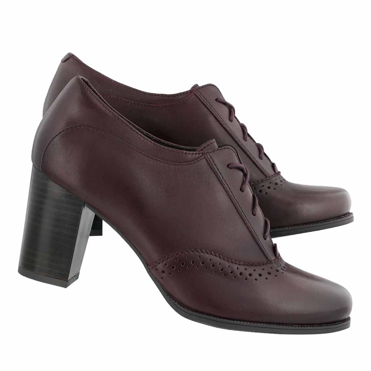 Lds Claeson Pearl burgundy dress heel