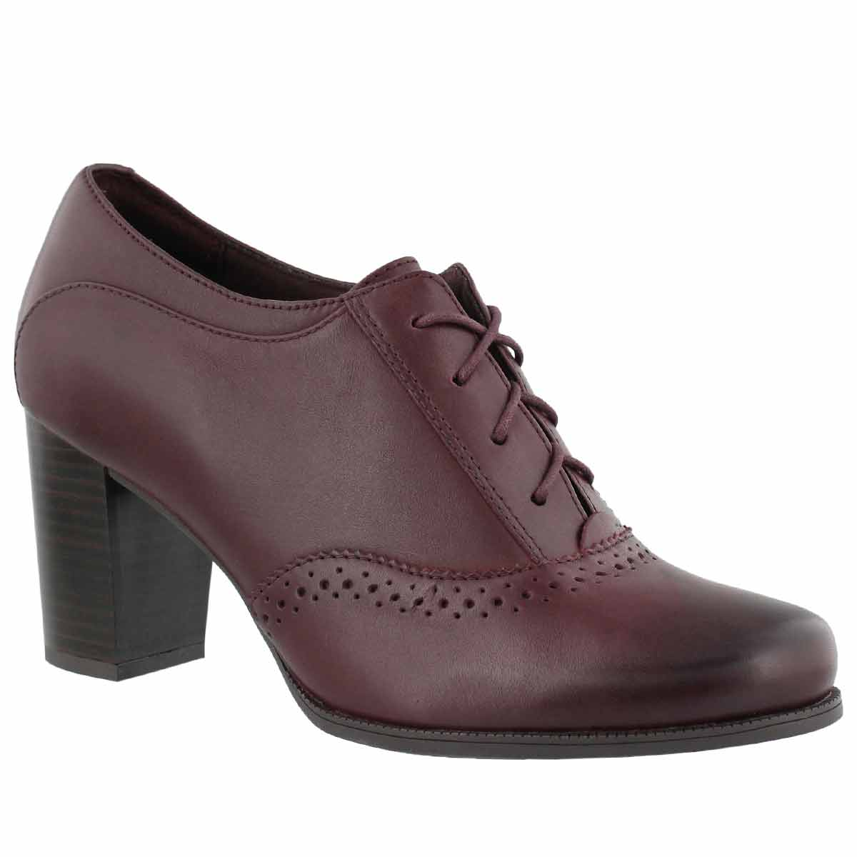 Women's CLAESON PEARL burgundy dress heels