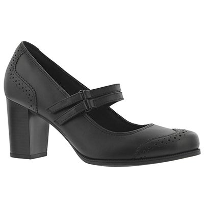Lds Claeson Tilly black dress heel